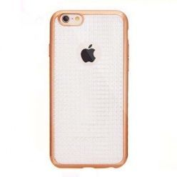 Etui na iPhone 6 / 6s silikonowe platynowane Blink - złote.