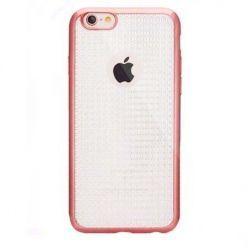 Etui na iPhone 6 / 6s silikonowe platynowane Blink - różowe, Rose gold. PROMOCJA!!!