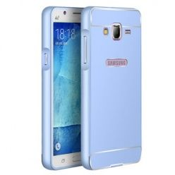 Galaxy J3 2016r etui aluminium bumper case niebieski. PROMOCJA !!!