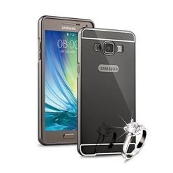 Mirror bumper case na Galaxy J5 2016  - Grafitowy