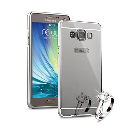 Mirror bumper case na Galaxy J3 2016r  - Srebrny