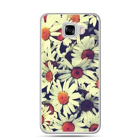 Etui na telefon Samsung Galaxy C7 - stokrotki