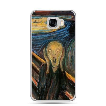 Etui na telefon Samsung Galaxy C7 - Krzyk Munka
