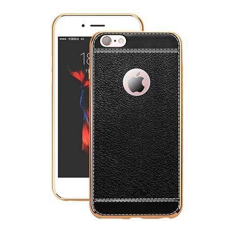 Etui na iPhone 6 Plus  silikonowe platynowane TPU Slim skóra - czarne.