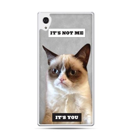 Etui na telefon Sony Xperia XA - grumpy kot zrzęda