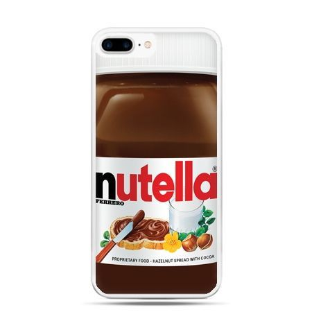 Etui na telefon iPhone 7 Plus - Nutella czekolada słoik