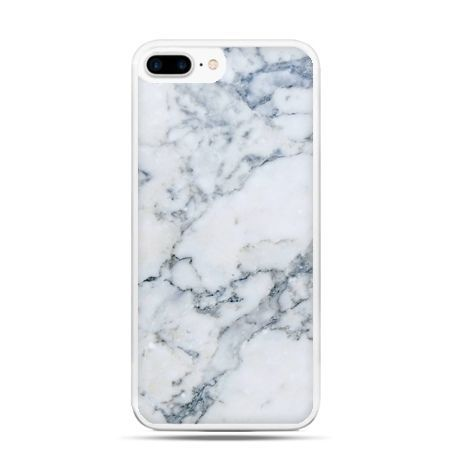 Etui na telefon iPhone 7 Plus - biały marmur