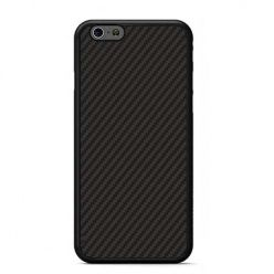 Etui na iPhone 6 / 6s gumowe Karbon - czarne.
