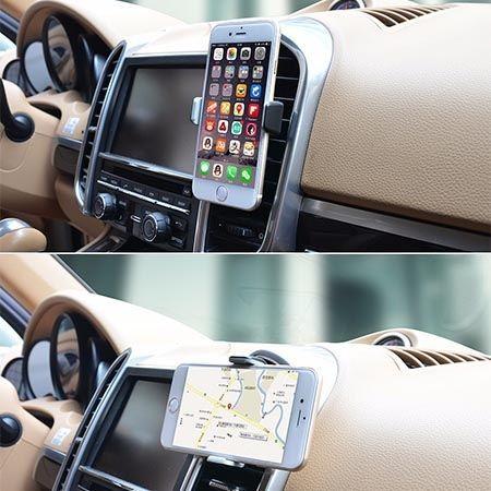 Vent uniwersalny uchwyt samochodowy na telefon na kratkę.