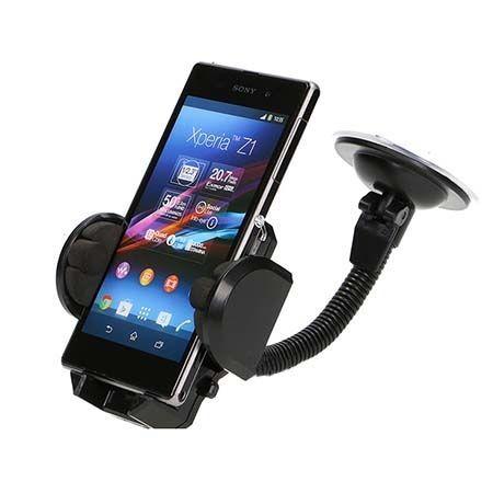 Spiralo - Uniwersalny uchwyt samochodowy na Galaxy S7 Edge czarny.