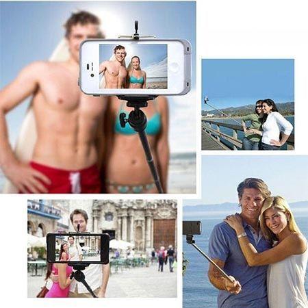 Monopod Grove, kijek do Selfie wysięgnik z kabelkiem do Huawei P8 - czarny.