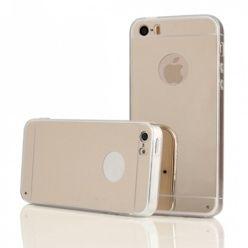 iPhone 4 / 4s lustro - mirror, silikonowe elastyczne TPU - złote.