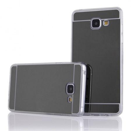 Etui na Galaxy A5 (2016) mirror - lustro silikonowe TPU - czarne.