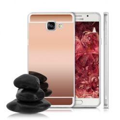 Etui na Galaxy A3 (2016) mirror - lustro silikonowe TPU - rose gold.
