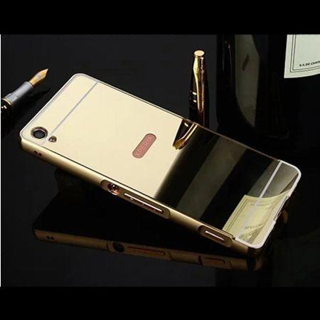 Mirror bumper case na Xperia XA - Złoty