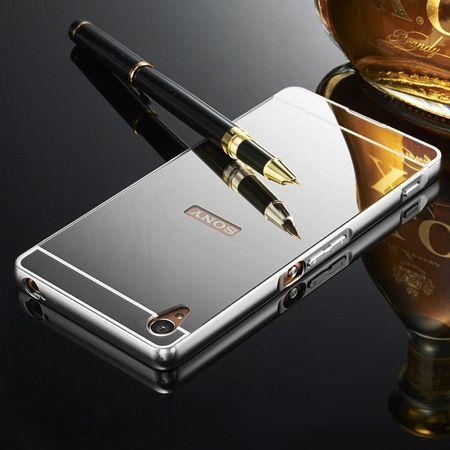 Mirror bumper case na Xperia Z - Srebrny