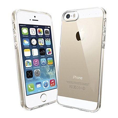 iPhone SE ultra slim przezroczysta nakładka gumowe etui crystal case, obudowa, back