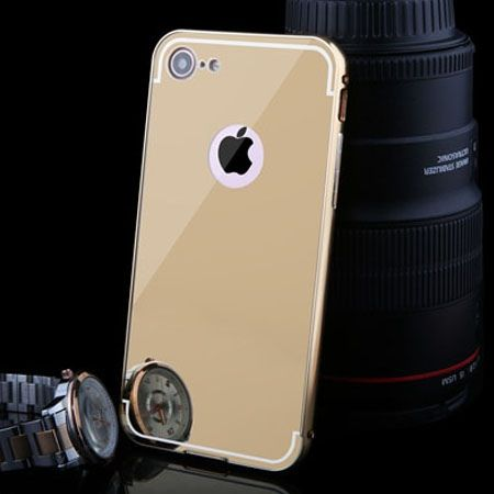 Mirror bumper case na iPhone 7 - Złoty