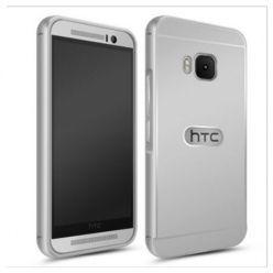 HTC One M9 etui aluminium bumper case srebrny.