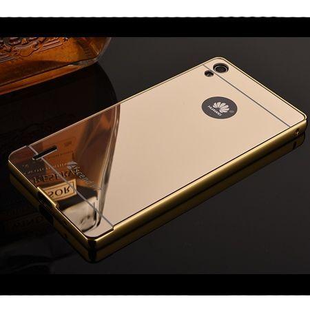 Mirror bumper case na Huawei P7 - Złoty