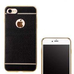 Etui na iPhone 7 silikonowe platynowane TPU Slim skóra - czarne.
