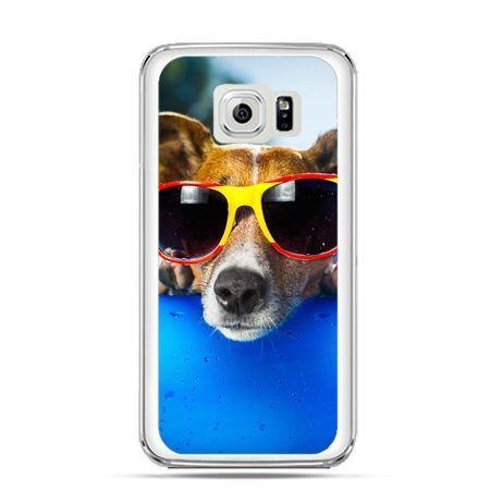 Etui na Galaxy S6 Edge Plus - pies w kolorowych okularach