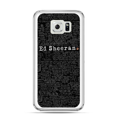 Etui na Galaxy S6 Edge Plus - ED Sheeran czarne poziome