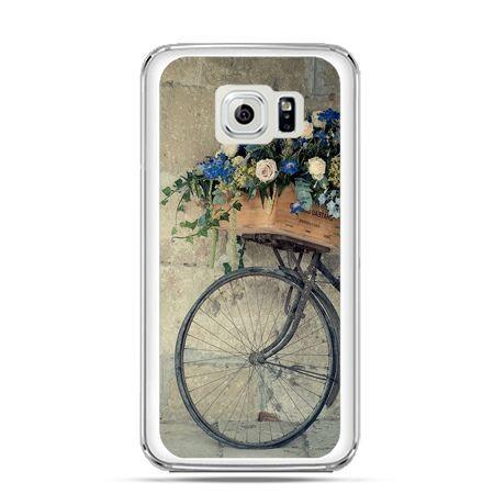 Etui na Galaxy S6 Edge Plus - rower z kwiatami