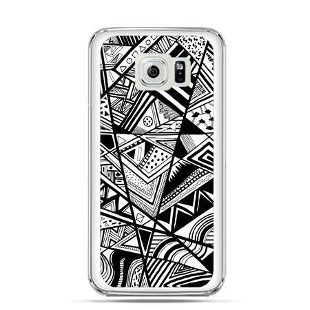 Etui na Galaxy S6 Edge Plus - czarno białe trójkąty