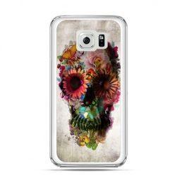 Etui na Galaxy S6 Edge Plus - czaszka z kwiatami