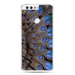 Etui na Huawei Honor 8 - niebieskie pióra