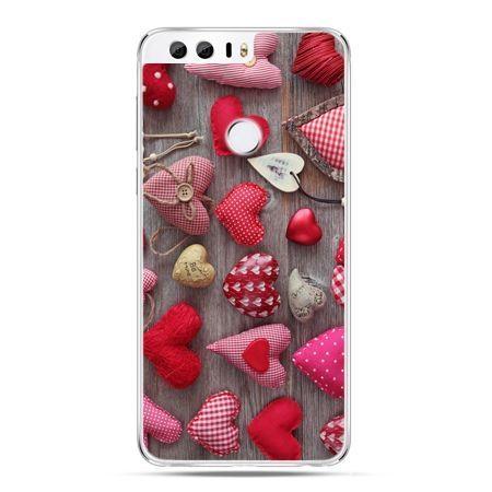 Etui na Huawei Honor 8 - pluszowe serduszka