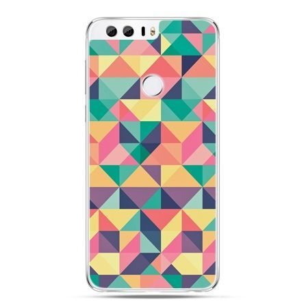 Etui na Huawei Honor 8 - kolorowe trójkąty