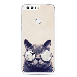 Etui na Huawei Honor 8 - kot w okularach