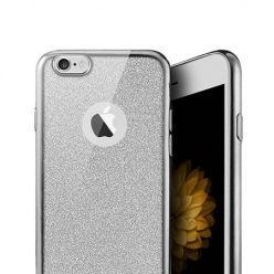 iPhone 7 etui brokat silikonowe platynowane SLIM tpu srebrne.
