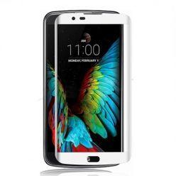 LG K10 Hartowane szkło na cały ekran 3D - Biały.