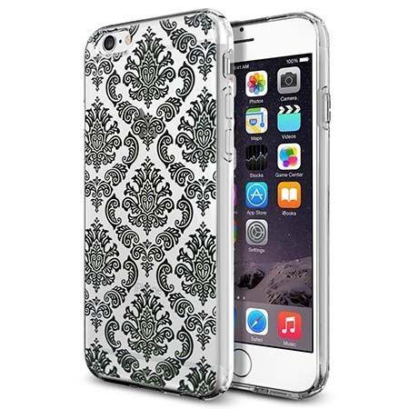 Silikonowe etui na iPhone 6 / 6s crystal case henna barok - czarne. PROMOCJA!!!