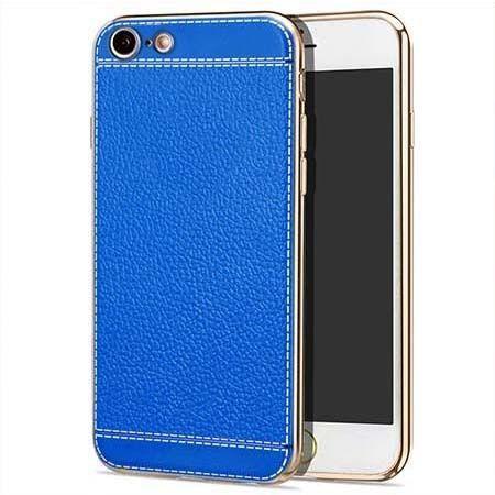 Etui na iPhone 7 silikonowe platynowane TPU Slim skóra - niebieskie.