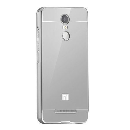 Mirror bumper case na Xiaomi Redmi Note 3 Pro - srebrny.