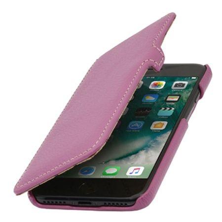 Etui na iPhone 7 Plus Stilgut BOOK skórzane z klapką - różowy