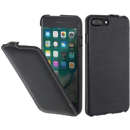 Etui na iPhone 7 Plus Stilgut SlimCase skórzane z klapką - czarny