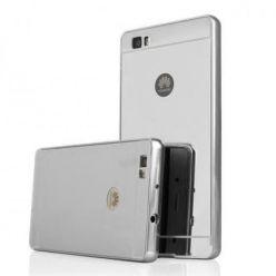 Huawei P8 Lite Mirror bumper case - Srebrny