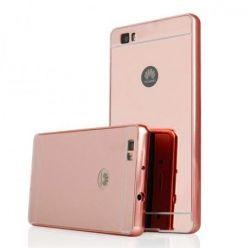 Huawei P8 Lite Mirror bumper case (Rose Gold) - Różowy