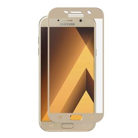 Hartowane szkło na cały ekran 3d Galaxy A5 2017 - złoty.