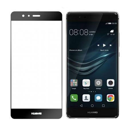 Hartowane szkło na cały ekran 3d Huawei P9 - czarny.