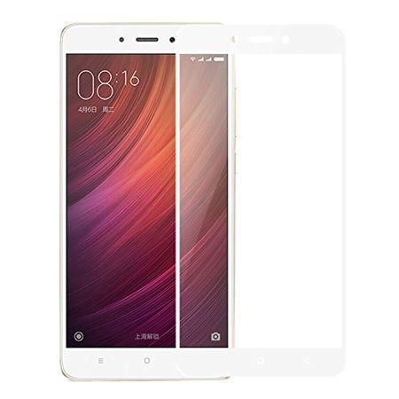 Hartowane szkło na cały ekran 3d Xiaomi Redmi Note 4 - Biały.