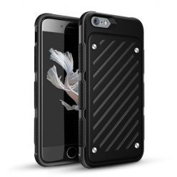 Pancerne etui Shockproof na iPhone 6 / 6s - Czarny.