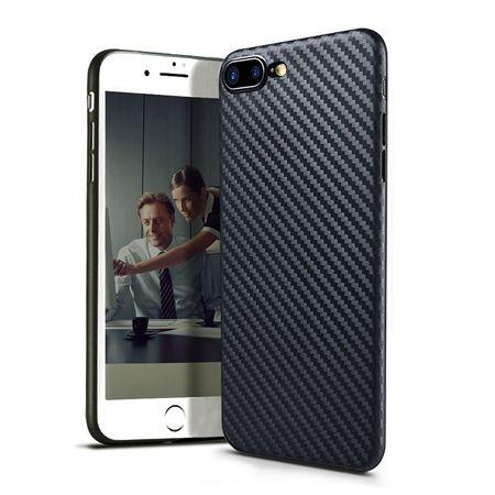 iPhone 7 Plus etui silikonowe Slim TPU Carbon.