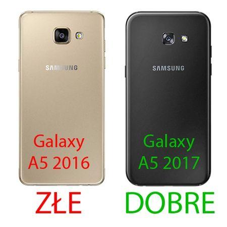 Samsung Galaxy A5 2017 przezroczyste etui platynowane SLIM - różowy.