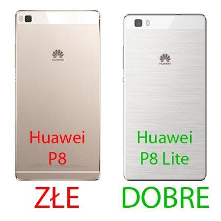 Kabura na Huawei P8 Lite Flexi Case z klapką- czarna.